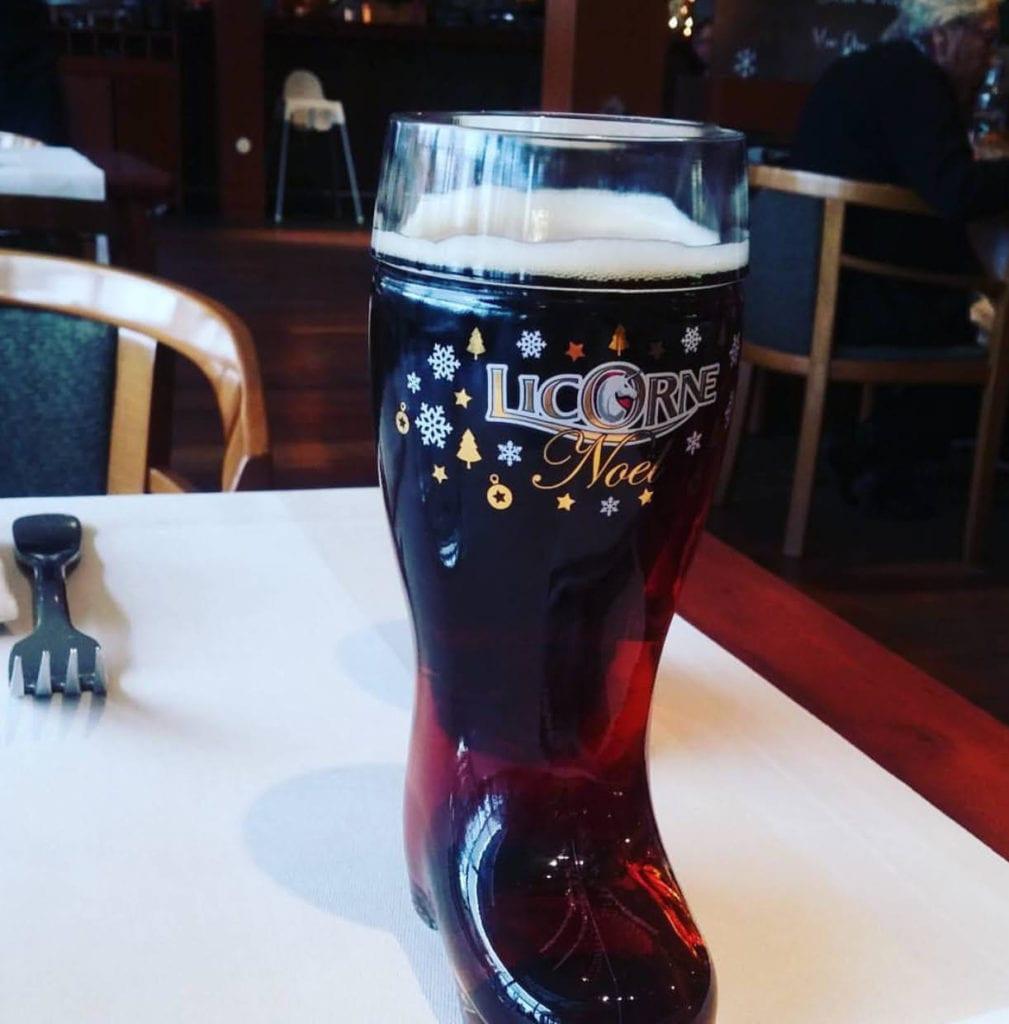 A Santas Boot of Beer