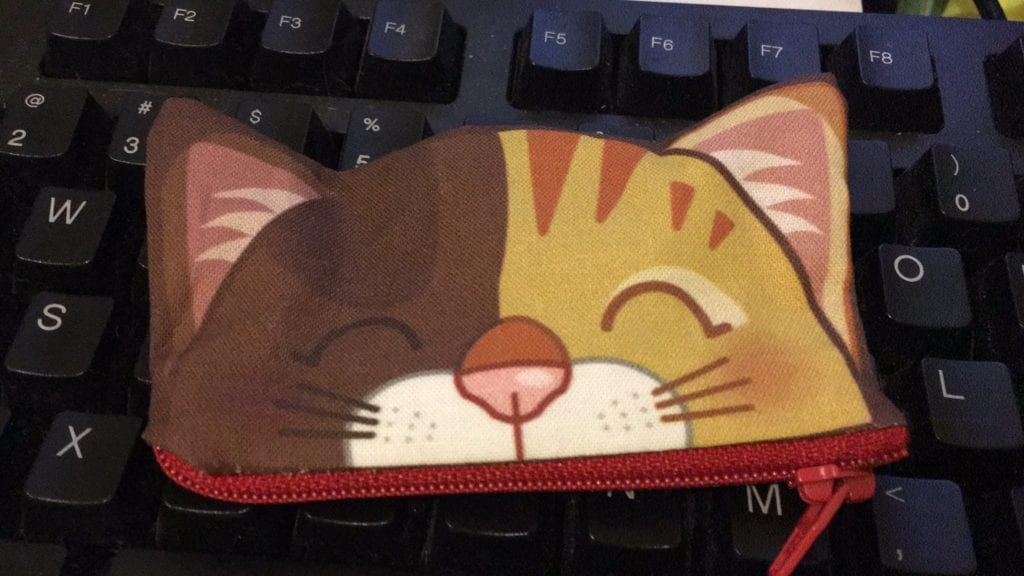 ladygreyfox Cat Zippered Coin Purse
