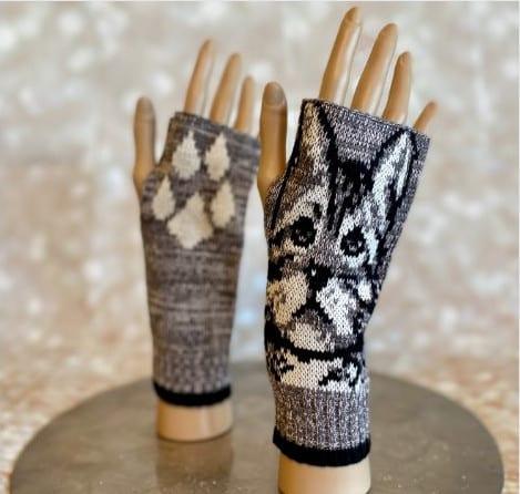 Cozy Cat Wrist Warmer Gloves
