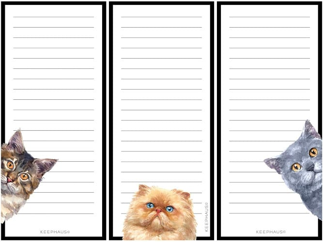 Curious Cats Magnetic To Do List Notepads