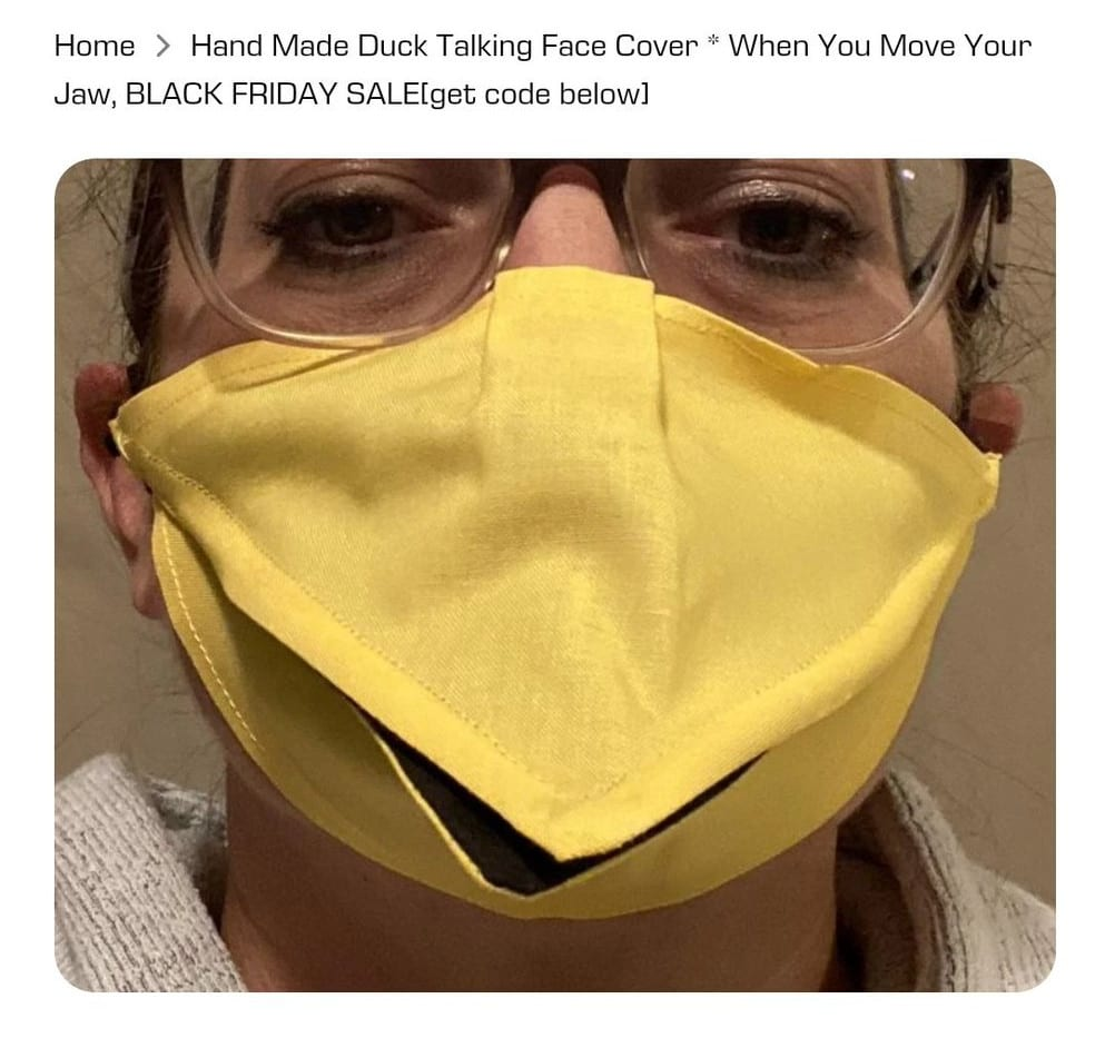 Duck facemask